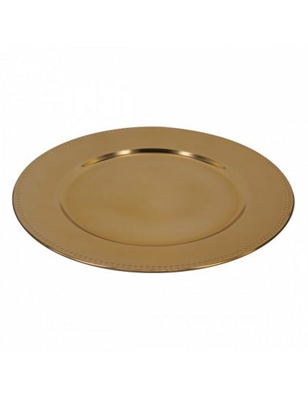 (R$2,00) Sousplat Dourado (33cm x 2cm)