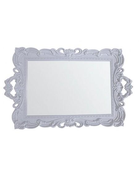 (R$10,00) Bandeja Plástico Branca c/ Espelho