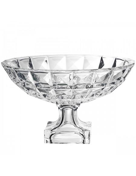 (R$25,00) Fruteira Vidro Cristal (D29cm / A19cm)