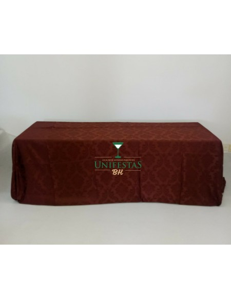 (R$18,00) Toalha Banquete Jacquard Marsala