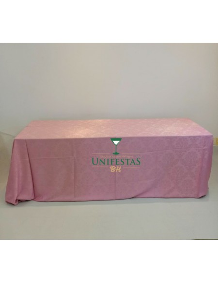 (R$18,00) Toalha Banquete Jacquard Rosa Baby (4x2.80)