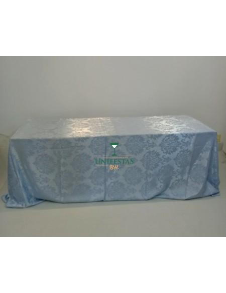 (R$18,00) Toalha Banquete Jacquard Azul Baby (4x2.80m)