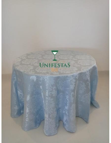 (R$12,00) Toalha Aparador Jacquard Azul Baby (2.80m)
