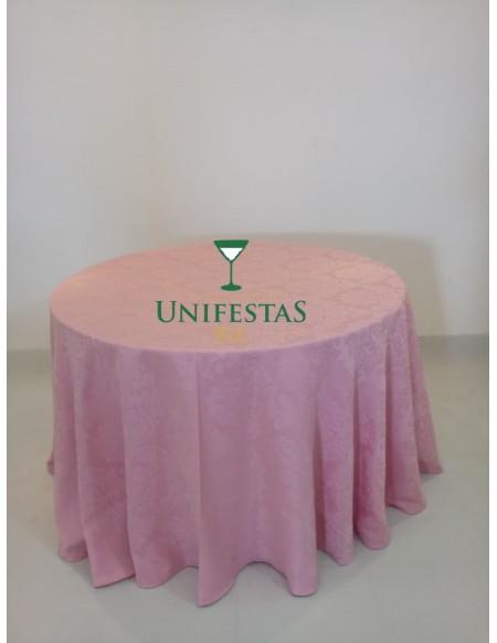 (R$12,00) Toalha Aparador Jacquard Rosa Baby (2.80m)