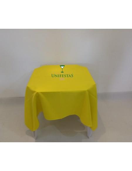 (R$4,00) Toalha Quadrada Oxford Amarela (1.50m)