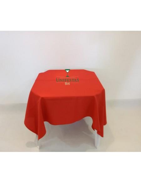 (R$4,00) Toalha Quadrada Oxford Vermelha (1.50m)