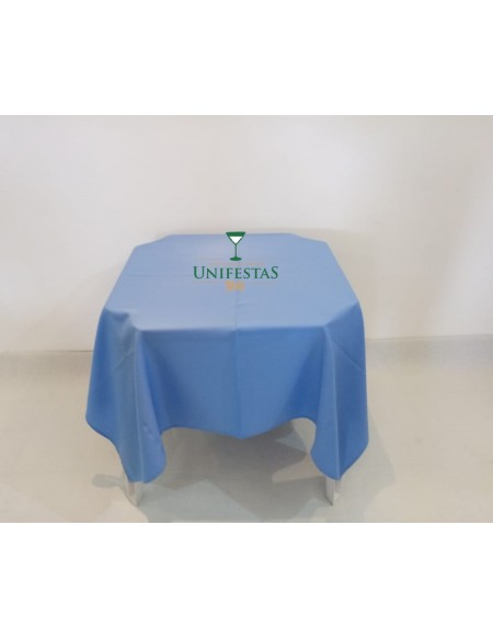 (R$4,00) Toalha Quadrada Oxford Azul Baby (1.50m)