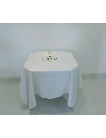 (R$4,000) Toalha Quadrada Oxford Branca (1,50m)