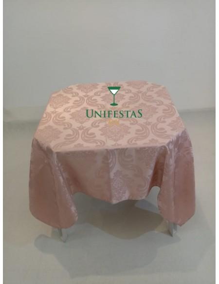 (R$5,00) Toalha Quadrada Jacquard Rosa Seco (1.50m)