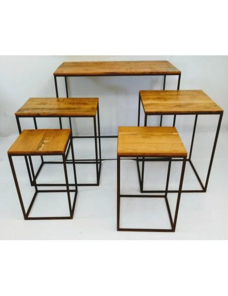 (R$140,00) Kit 5 Mesas Cubo