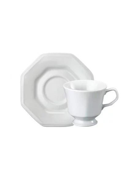 (R$9,80 dz) Xícara chá + Pires Oitavado
