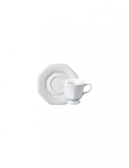 (R$7,80 dezena) Xícara de Café (70ml) + Pires Oitavado