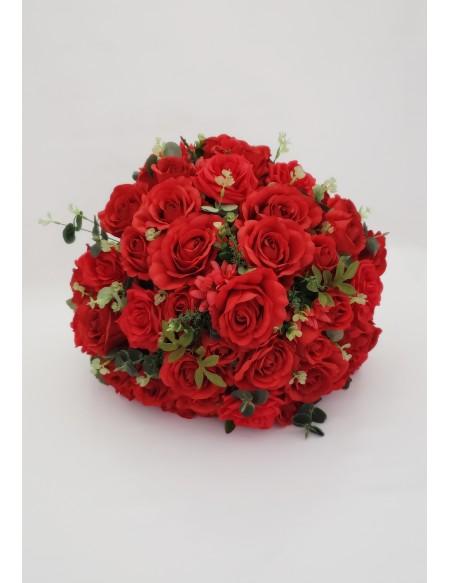 (R$35,00) Buquê Permanente Flor Vermelha