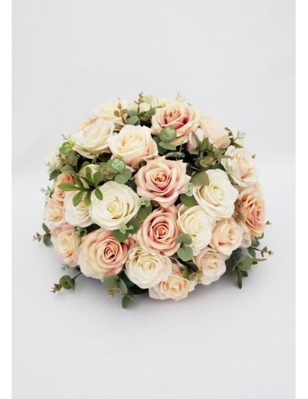 (R$35,00) Buquê Permanente Flor Pérola e Rose G