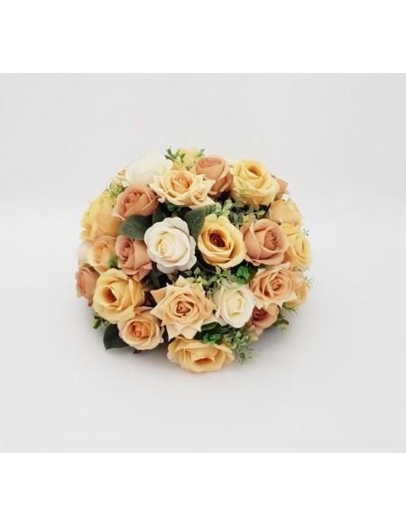 (R$30,00) Buquê Permanente Flor Pérola e Rose M