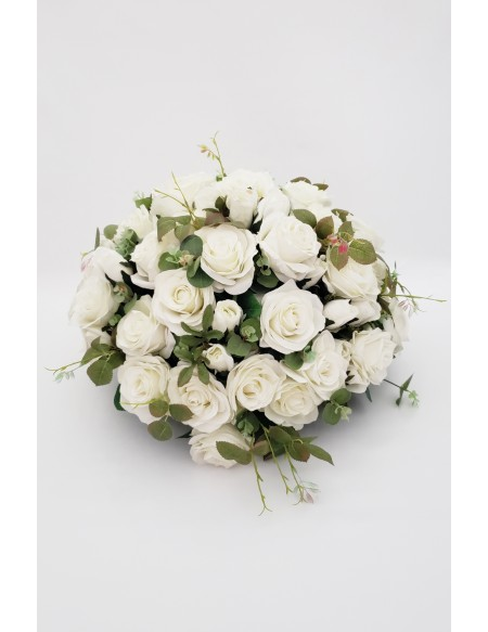 (R$35,00) Buquê Permanente Flor Branca