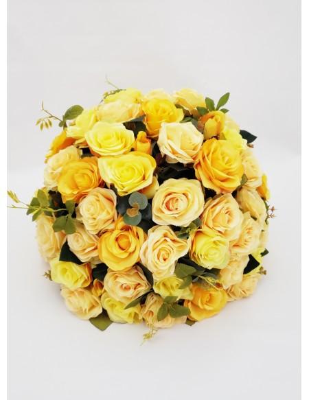 (R$35,00) Buquê Permanente Flor Amarela
