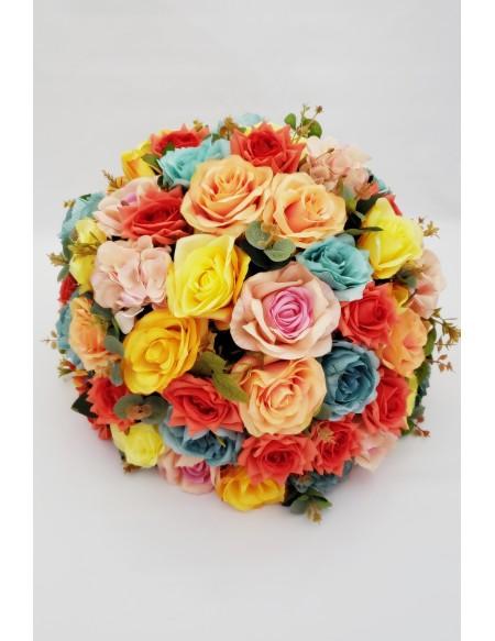(R$35,00) Buquê Permanente Flor Colorida