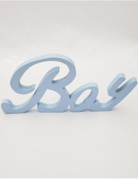 (R$6,00) Palavra Boy - Azul Baby (A16 /L33cm)