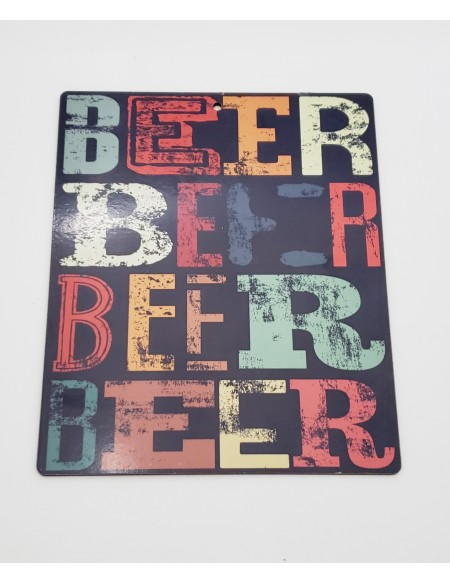 (R$4,00) Placa - Beer (L19 x A23cm)
