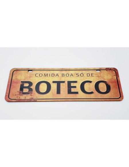 (R$4,00) Placa - Comida Boa Só de Boteco (L40xA13cm)