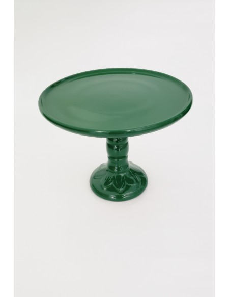 (R$12,00) Boleira Pé Alto Verde Bandeira (A20 / D26cm)
