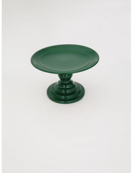 (R$10,00) Boleira Pé Baixo Verde Bandeira (A14.5 / D24.5cm)
