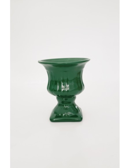 (R$4,80) Vasinho Grego Verde Bandeira (A13 /D10cm)