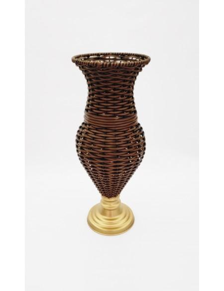 (R$35,00) Vaso Junco Detalhe (A47 / D16cm)