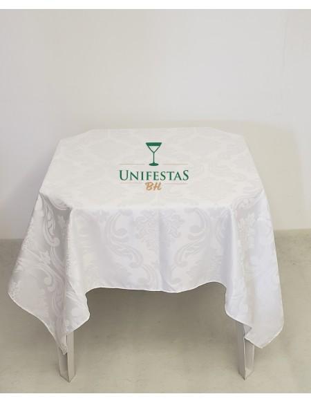 (R$5,00) Toalha Quadrada Jacquard Branca (1.50m)
