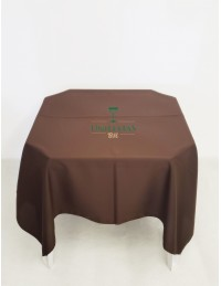 (R$4,80) Toalha Quadrada Oxford Marrom (1.50m)