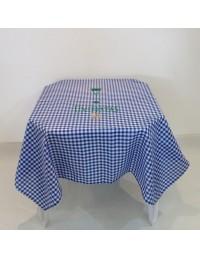 (R$4,80) Toalha Quadrada Xadrez Azul/Branco (1.40m)