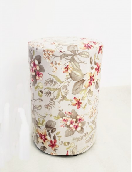 (R$12,00) Puff Mesa Redondo + Capa Floral