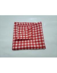 (R$2,20) Guardanapo Xadrez Vermelho/Branco (40x40cm)