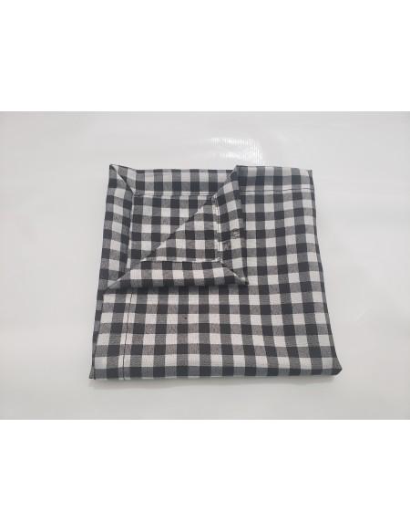 (R$2,20) Guardanapo Xadrez Preto/Branco (40x40cm)
