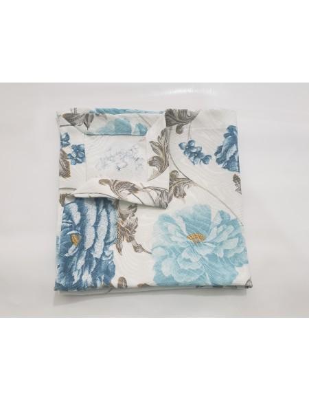 (R$2,20) Guardanapo Estampado Azul Floral (40x40cm)