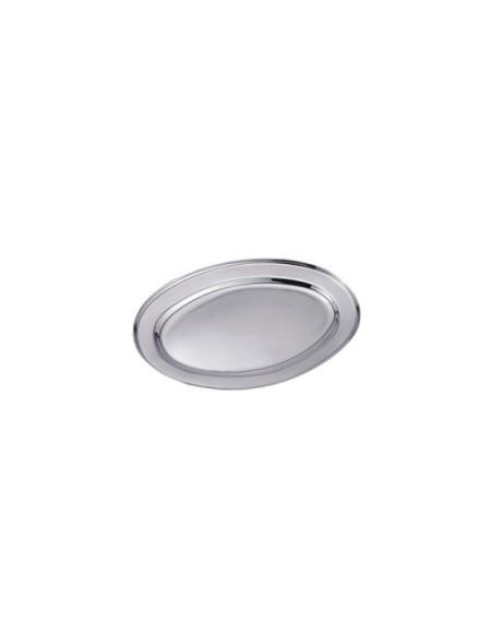 (R$3,80) Travessa Oval Inox PP (20x13cm)