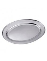 (R$3,80) Travessa Oval Inox PP (20x14cm)
