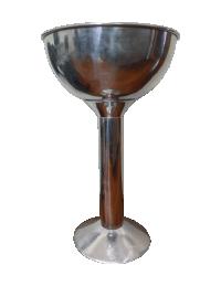(R$35,00) Champanheira Aluminio Pé Alto (22L)