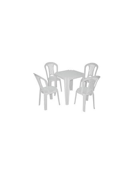 kit Mesa de Plástico Mais Quatro Cadeiras