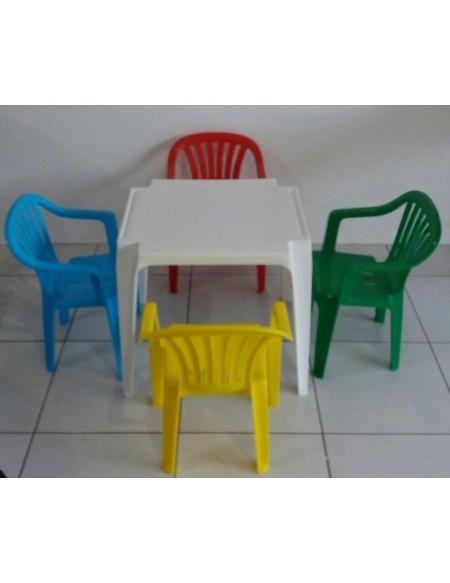 MESA INFANTIL C/ QUATRO CADEIRAS