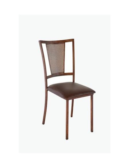 Cadeira Ferro Envelhecido Encosto Tela