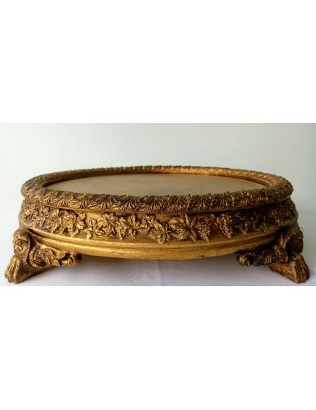 (R$ 50,00) Porta Bolo Ouro Envelhecido (35cm)